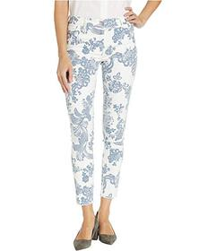 Elliott Lauren Blue Ivy Fly Front Pants with Fray