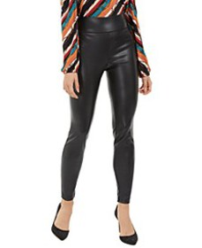 INC Faux-Leather Skinny Pants, Created For Macy's