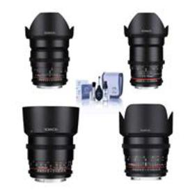 Rokinon Cine DS Lens Bundle for Canon EF, 24mm, 35