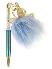 Betsey Johnson Rainbow Pen with Unicorn Charm in G