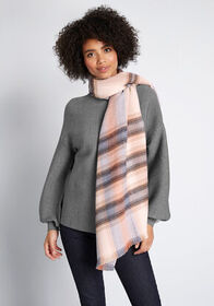 Plaid Preferred Scarf Blue Multi