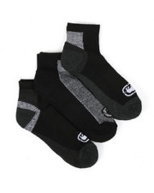 Ecko 3 pack 1/2 cushion quarter socks