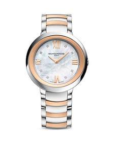 Baume & Mercier - Promesse Diamond Two Tone Watch,