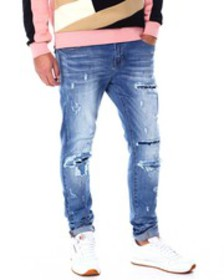 Foreign Local repaired blown out knee jean