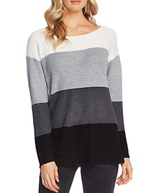 VINCE CAMUTO - Striped Waffle-Knit Sweater