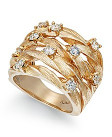 D'Oro by EFFY® Diamond Woven Ring (1 ct. t.w.) in