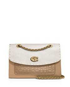 COACH - Parker Mixed Media Studded Convertible Sho