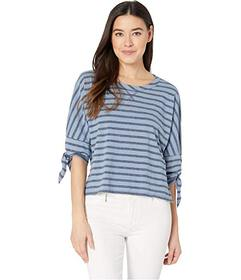 Mod-o-doc Boxy Tee with 3\u002F4 Tie Sleeves in Tw