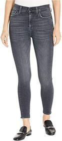 7 For All Mankind High-Waist Ankle Skinny in Hones