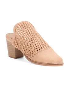 REBELS Woven Suede Slip On Booties