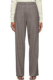 6397 Grey Pinstripe Pull-On Long Trousers