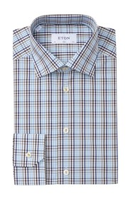 Eton Plaid Long Sleeve Slim Fit Shirt