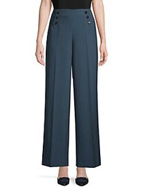 Anne Klein Pressed Wide-Leg Pants SPRUCE
