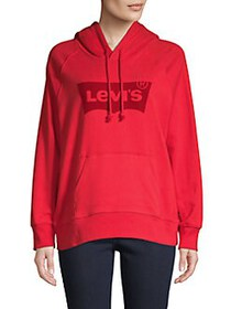 Levi's Logo Graphic Cotton-Blend Hoodie RED