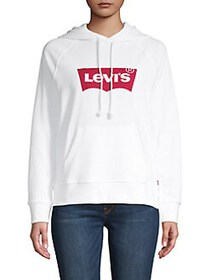 Levi's Logo Pullover Hoodie WHITE