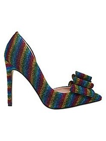Betsey Johnson Prince Rainbow Sequined Pumps MEDIU