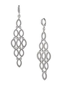 Givenchy Silvertone Chadelier Earrings SILVER