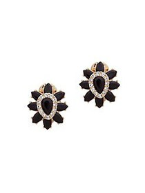 Anne Klein Goldtone Flower Stud Earrings GOLD