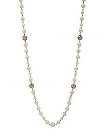 Anne Klein Faux Pearl Goldtone Necklace PEARL