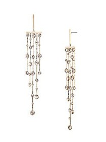 Givenchy Goldtone & Crystal Chandelier Drop Earrin