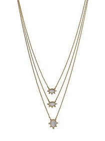 Lucky Brand Goldtone and White Mother-of-Pearl Lay