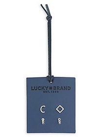 Lucky Brand Official Initial Set-of-2 Silvertone E