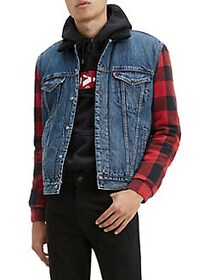 Levi's Faux Shearling Combo Denim Jacket TIMBER