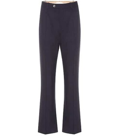 Chloé High-rise stretch-wool pants