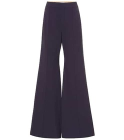 Chloé Stretch-wool high-rise flared pants