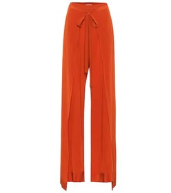 Chloé Silk high-rise wide-leg pants