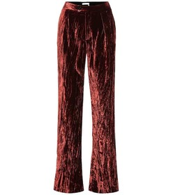 Chloé High-rise wide-leg velvet pants