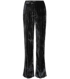Chloé Pleated velvet pants