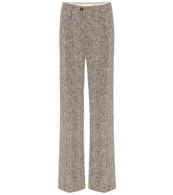 Chloé High-rise wide-leg herringbone pants