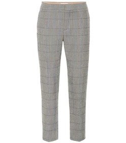 Chloé Checked stretch-wool pants