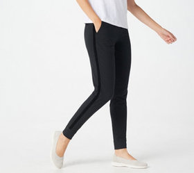 """As Is"" Denim & Co. Active Jogger Pant with Rib Tr"