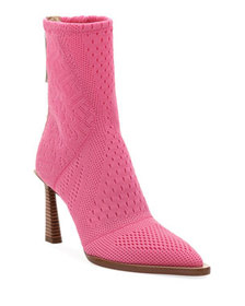Fendi Stretch-Knit High Booties