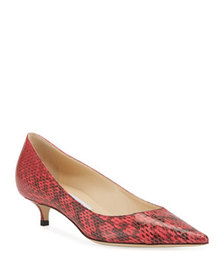 Jimmy Choo Amelia Snake-Print Leather Pumps