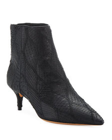 Alexandre Birman Python Zip Ankle Booties