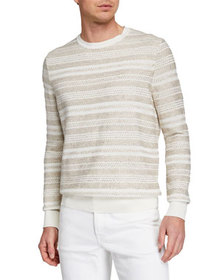 Ermenegildo Zegna Men's Striato Striped Crewneck S