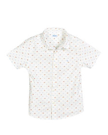 Mayoral Boat Print Collared Shirt, Size 12-36 Mont