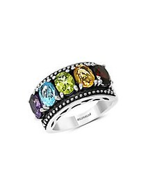 Effy Sterling Silver and Multi-Stone Ring SILVER