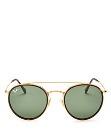 Ray-Ban - Unisex Icons Brow Bar Round Sunglasses,