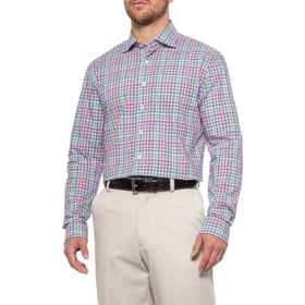 Bobby Jones Luxe Spruell Mini-Plaid Shirt - Long S