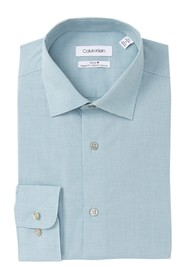 Calvin Klein Mini Check Regular Fit Dress Shirt