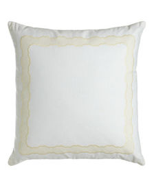 SFERRA Embroidered Linen Pillow 17 x 30