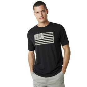 Oakley SI Distressed Flag Tee - Blackout
