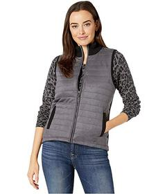 Jones New York Faux Suede Quilted Front Vest
