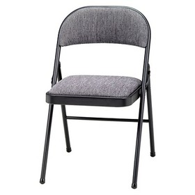 4 Piece Deluxe Fabric Padded Folding Chair Black L