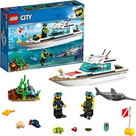 LEGO City Great Vehicles Diving Yacht 60221 Buildi