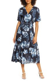 French Connection Caterina Floral Short Sleeve Mid